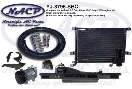 1987-1995 Jeep YJ Wrangler AC Kit SBC Engines