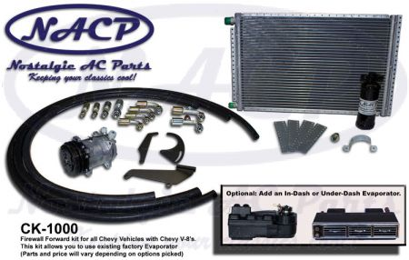 Complete Firewall Forward Kit Chevrolet Cars and Trucks - Select an Evaporator