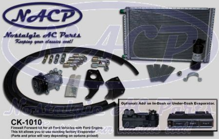 Complete Firewall Forward Kit Ford Cars and Trucks - Select an Evaporator