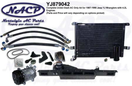 1987-1990 COMPLETE KIT YJ WRANGLER AC KIT 4.2L ENGINE