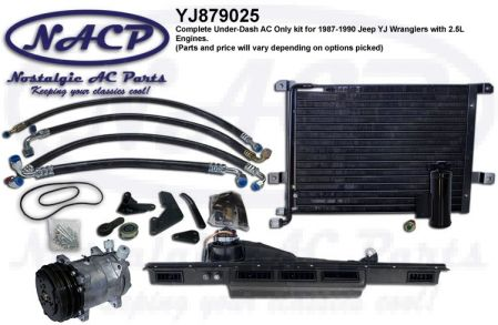 1987-1990 YJ Wrangler AC Kit 2.5L Engine